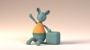 3d yarn wire mouse toy model