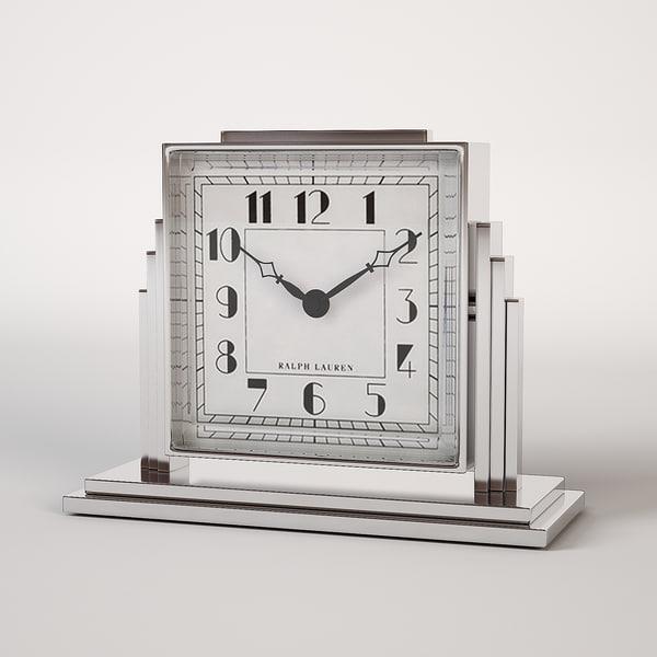 art deco athena clock 3d model