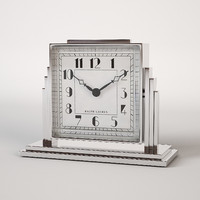 art deco athena clock 3d model