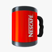 3d model nescafe cup