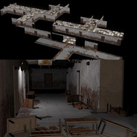 tilable old building interiors 3d max