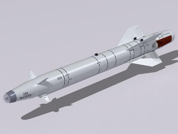 kh-25 missiles 3d max