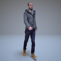 3d model casual man walking people