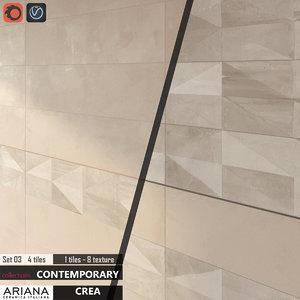 tile ariana crea set 3d max