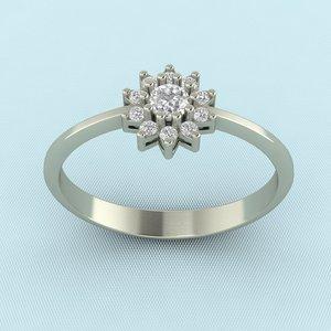 3d gem ring