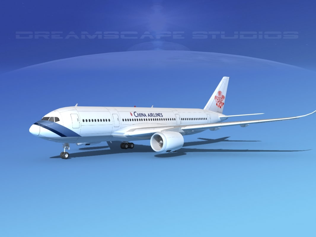3d airbus a350 airliners model