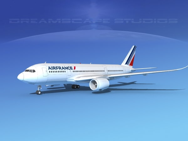 airbus a350-800 airfrance 3d model