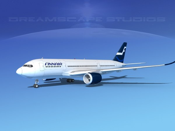 3d model of airbus a350