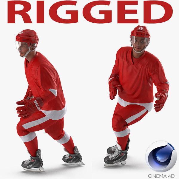 3d hockey player generic 2