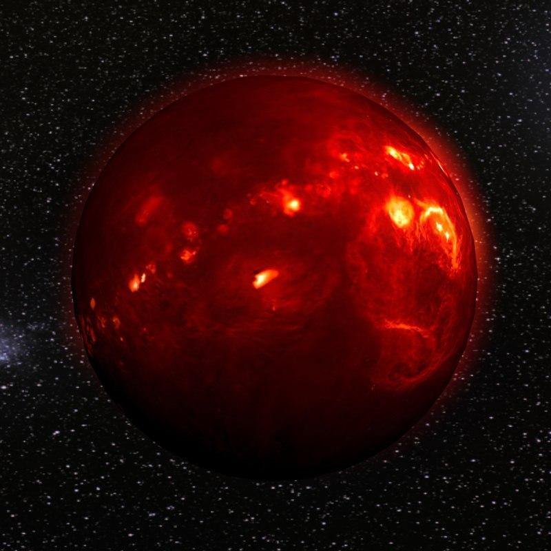 volcanic planet 3d model