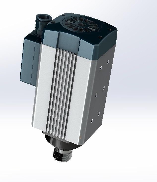 3d motor 4 spindle model