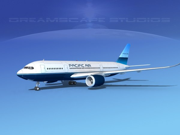 3d dxf airbus a350
