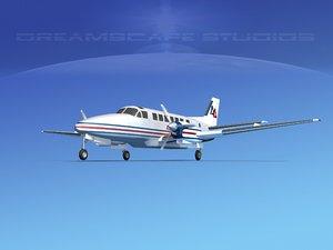 3d model beechcraft air