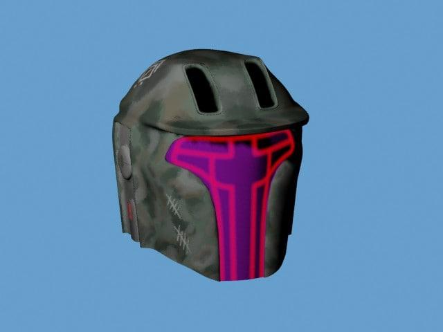 sci-fi helmet 3d 3ds