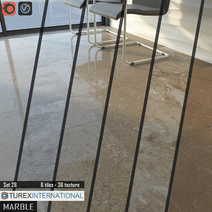 tile turex international marble 3d model