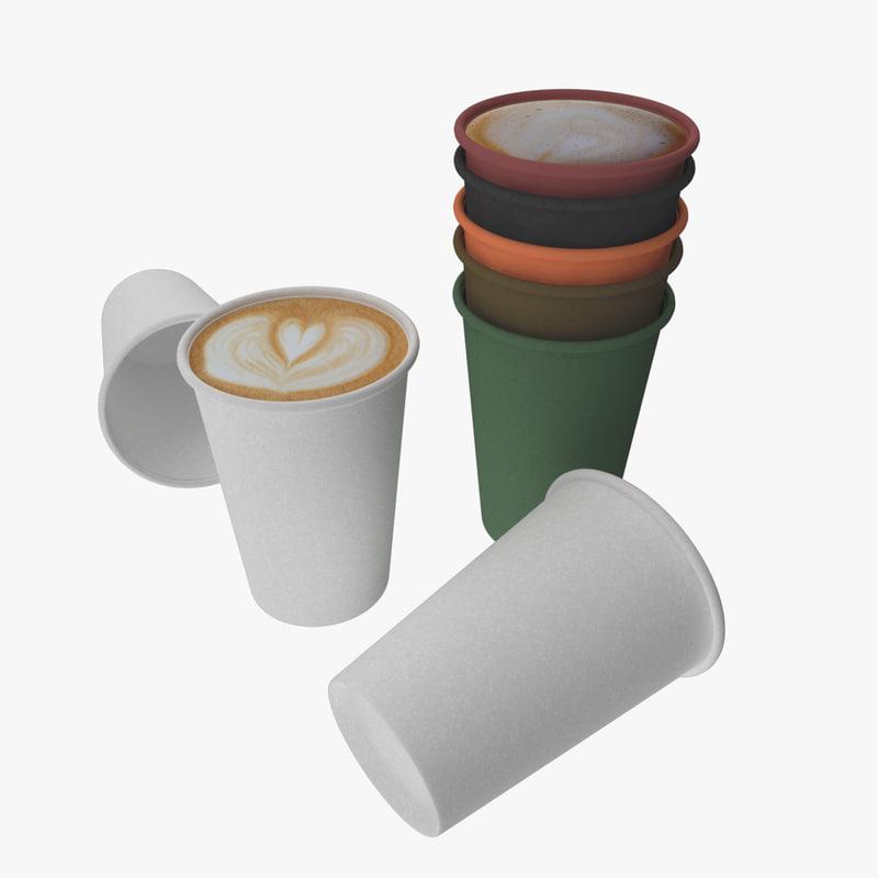 3d model paper cup
