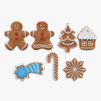 3d ginger breads cookie model