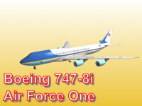 3d model boeing 747-8i air force