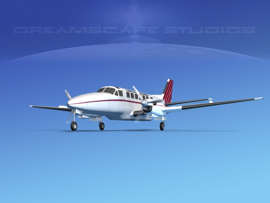3d model of beechcraft airliner turboprop