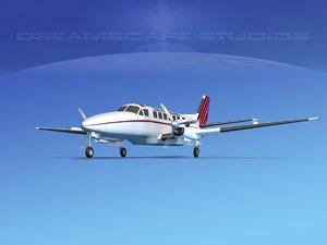 3d model of beechcraft airliner turboprop
