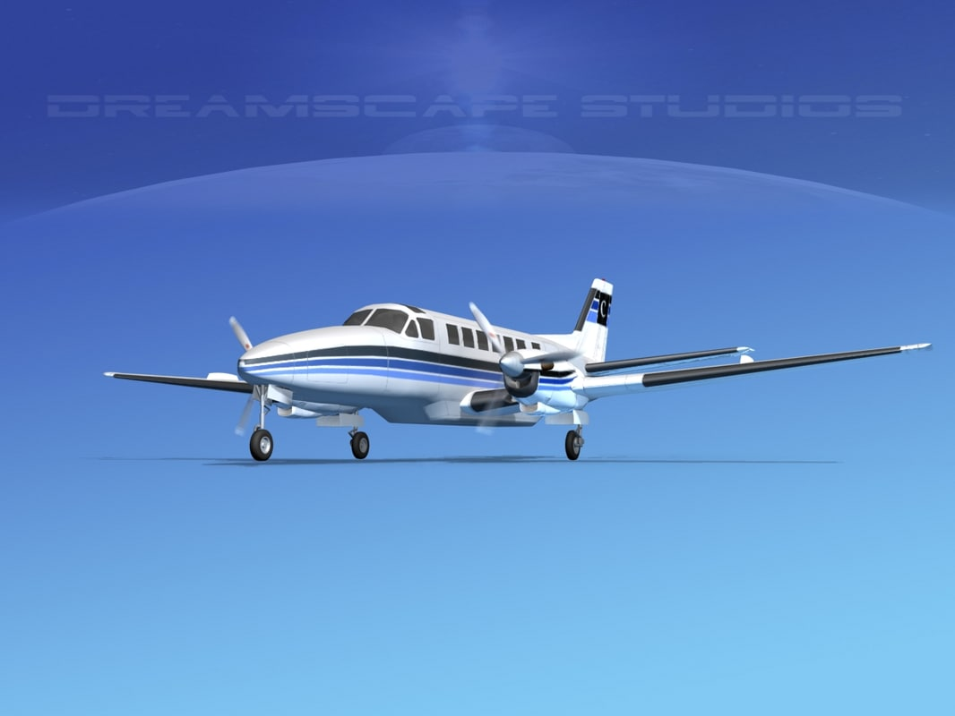 beechcraft airliner 3d model