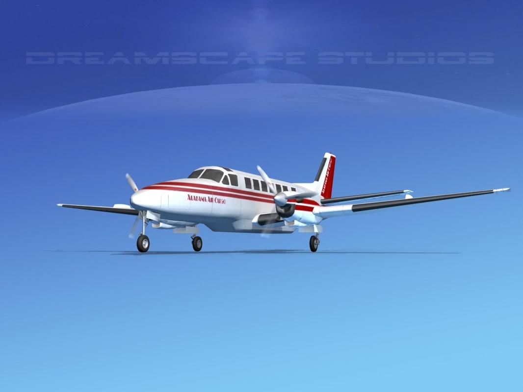 beechcraft air 3d obj