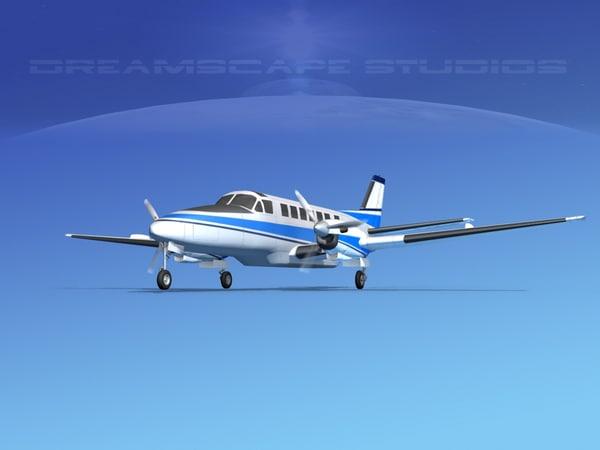 beechcraft airliner turboprop 3d model