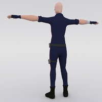 stylized male character 3ds