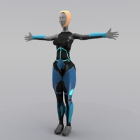 Semi SciFi Female Character (Lowpoly)