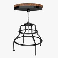3d dxf industrial mansard stool