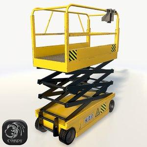 realistic scissor lift pose 3d model