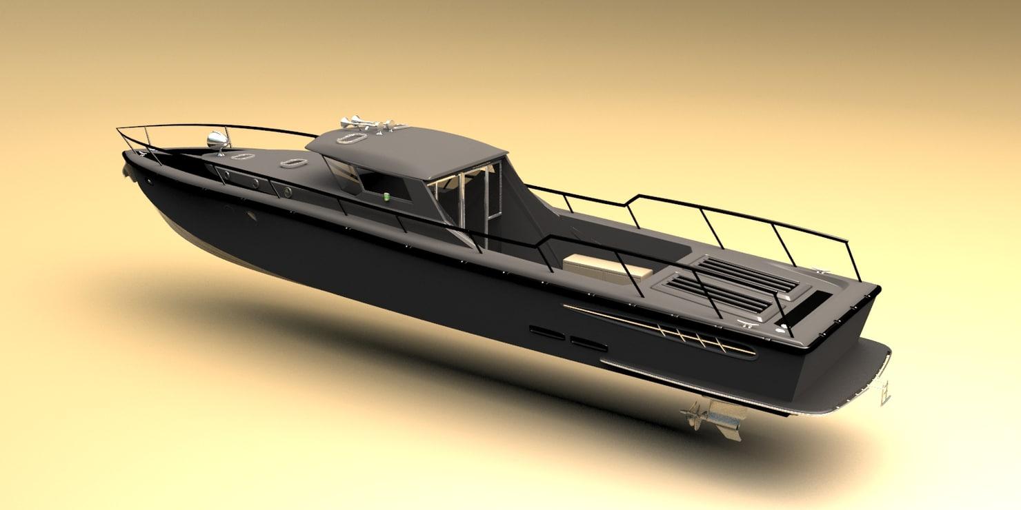 obj fast patrol military boat