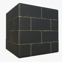 Black Brick Texture