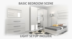 bedroom interior 3d 3ds