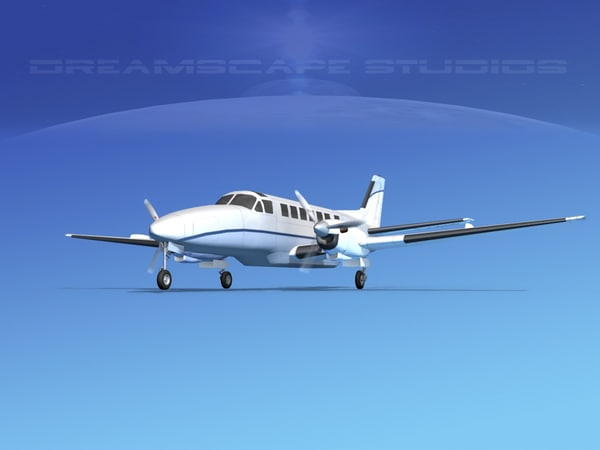 3d model beechcraft airliner turboprop