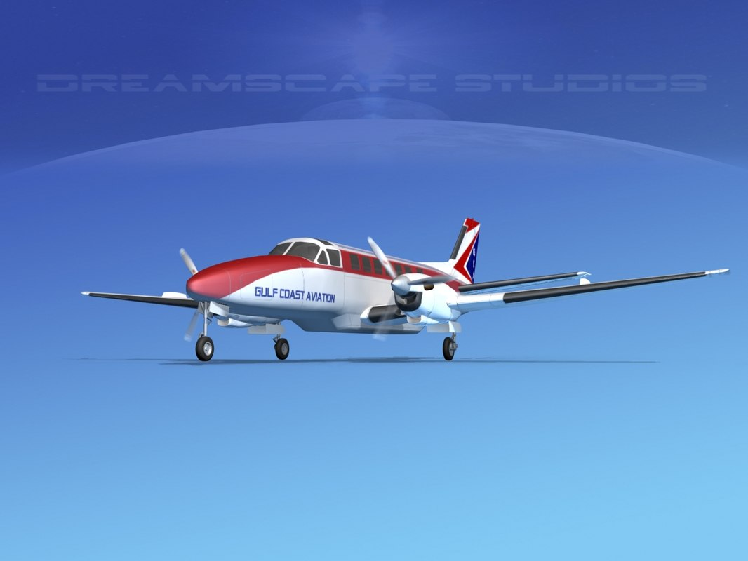 3d model beechcraft airliner turboprop