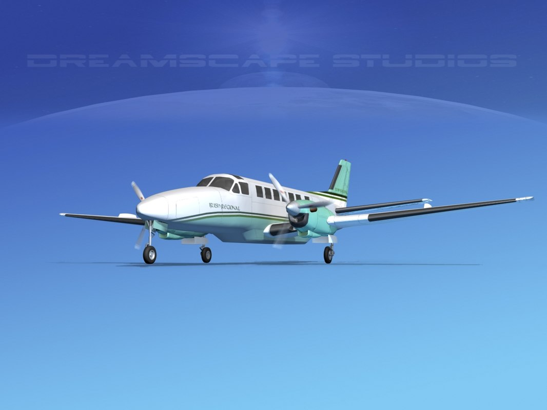 beechcraft airliner turboprop 3d obj