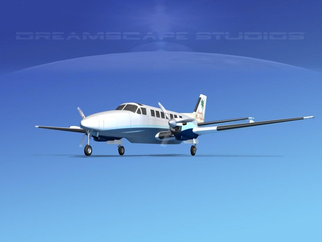 beechcraft air 3d model