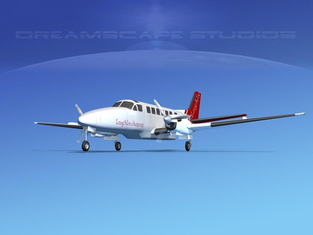 3d beechcraft airliner turboprop model