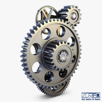 gear mechanism v 4 3d max