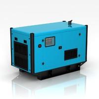silent power generator 3d obj