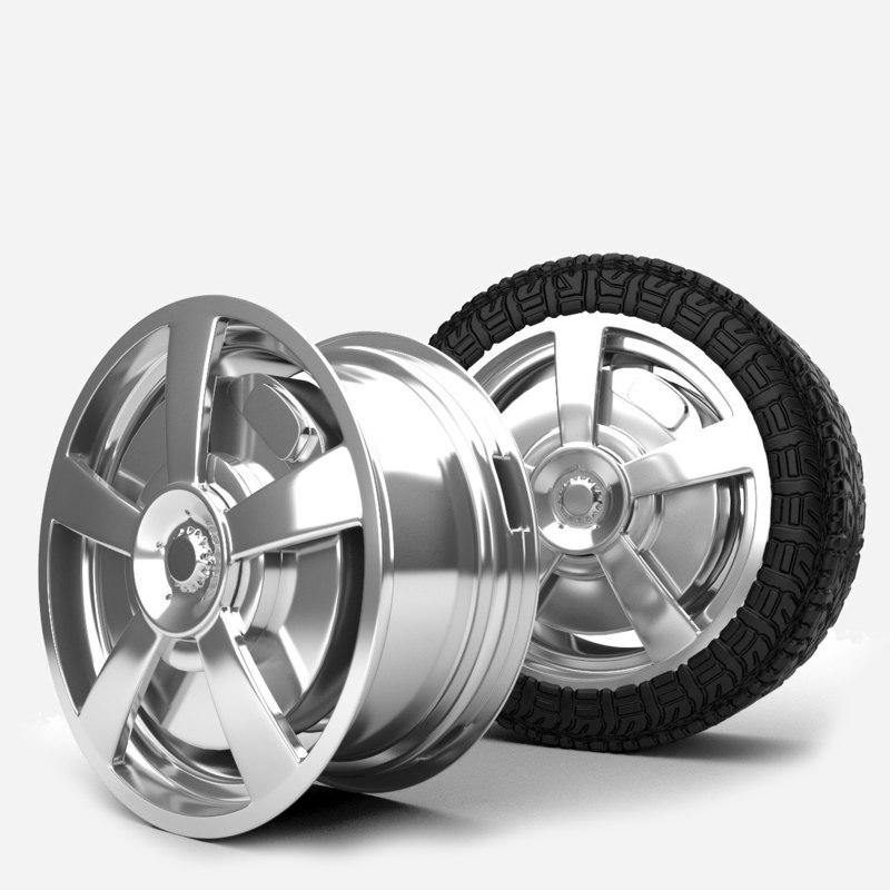 3d model alloys wheel