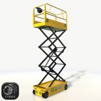 realistic scissor lift pose 3d 3ds