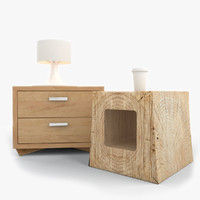nightstand night stand 3d model