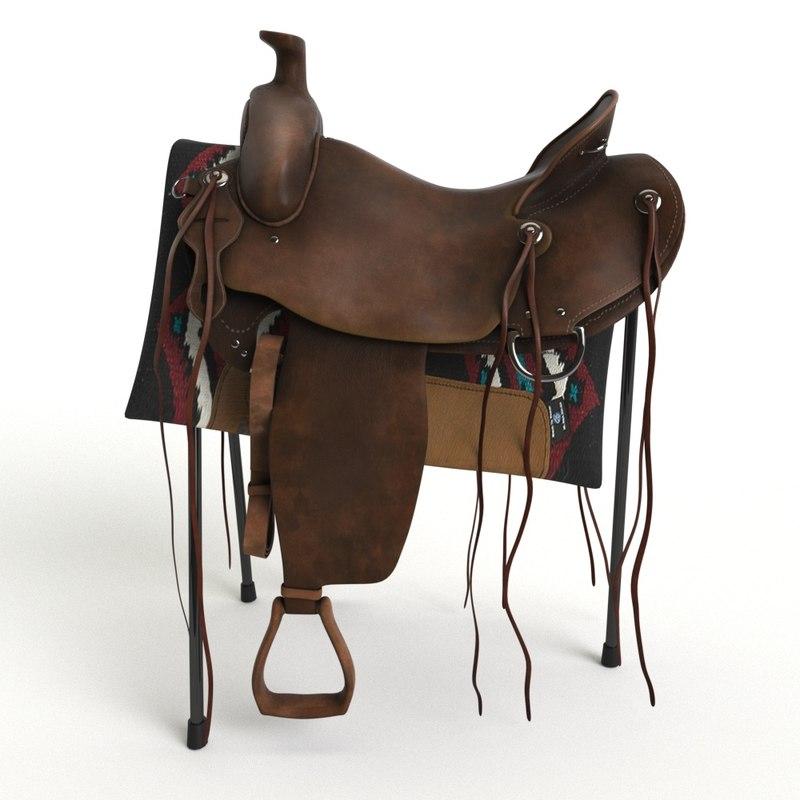 western saddle 3d max