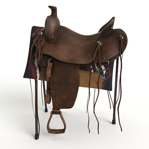 western saddle 3d max