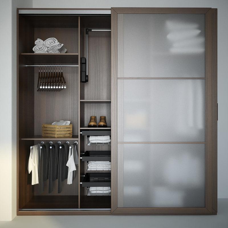 3d wardrobe cloth model