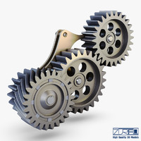 gear mechanism v 5 3d model