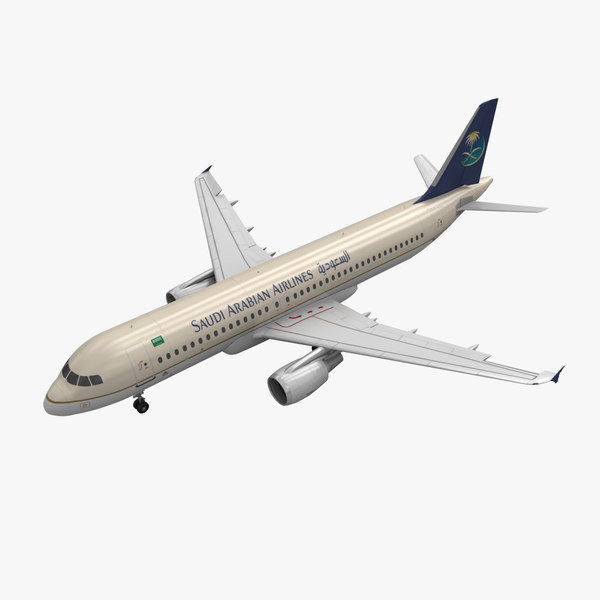 airbus a320 saudia animation 3d max