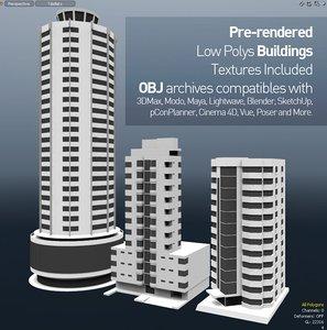 buildings polys prerendered obj